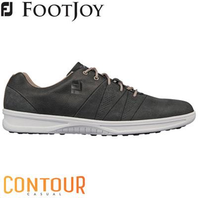 FOOTJOY(フットジョイ) CONTOUR CASUAL 2019 メンズ ゴルフシューズ 54072 チャコール (W)