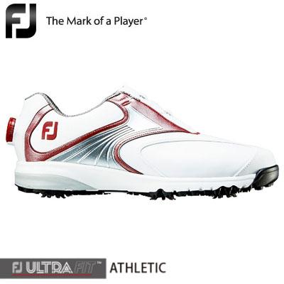【ゲリラセール開催中】FOOTJOY(フットジョイ) FJ ULTRA FIT ATHLETIC Boa 2018 メンズ ゴルフシューズ 54133 ホワイト/レッド/シルバー (W)