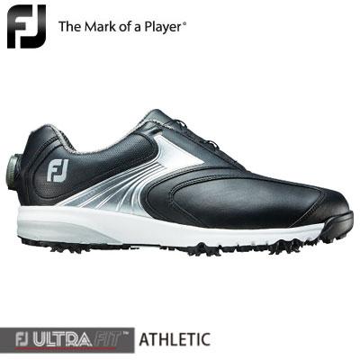 FOOTJOY(フットジョイ) FJ ULTRA FIT ATHLETIC Boa 2018 メンズ ゴルフシューズ 54147 ブラック/シルバー (W)
