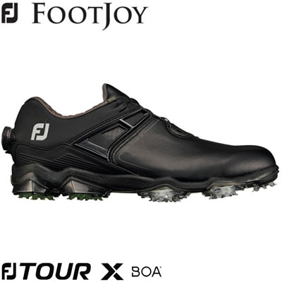 FOOTJOY(フットジョイ) FJ TOUR X Boa 2020 メンズ ゴルフシューズ 55414 ブラック/ライム (W)
