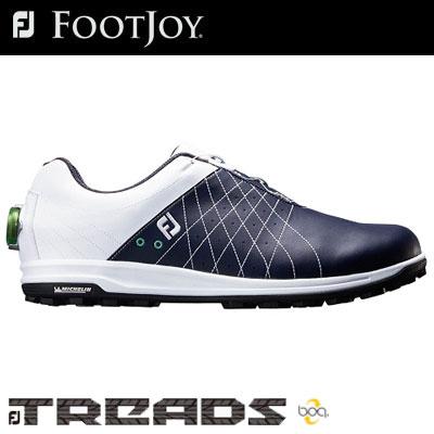【ゲリラセール開催中】FOOTJOY(フットジョイ) FJ TREAD Boa 2018 メンズ ゴルフシューズ 56206 ホワイト/ネイビー (W)