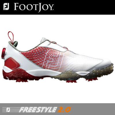 【ゲリラセール開催中】FOOTJOY(フットジョイ) FJ FREESTYLE 2.0 Boa 2018 メンズ ゴルフシューズ 57351 レッド/ホワイト (W)