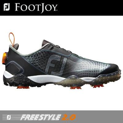【ゲリラセール開催中】FOOTJOY(フットジョイ) FJ FREESTYLE 2.0 Boa 2018 メンズ ゴルフシューズ 57353 ブラック/オレンジ (W)