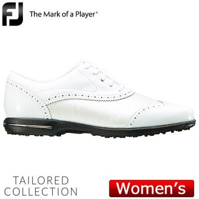 【ゲリラセール開催中】FOOTJOY(フットジョイ) Tailored Collection 2018 レディース ゴルフシューズ 91686 ホワイト/パール (W)