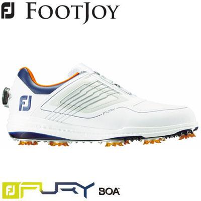 FOOTJOY(フットジョイ) FJ FURY Boa 2019 メンズ ゴルフシューズ 51111 ホワイト/ネイビー/オレンジ (W)