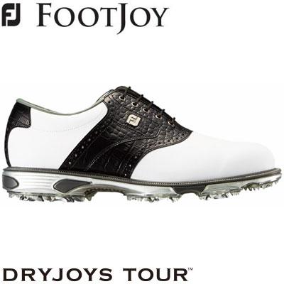 FOOTJOY(フットジョイ) DRYJOYS TOUR lace 2019 メンズ ゴルフシューズ 53610 ホワイト/ブラック (W)