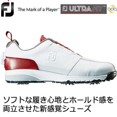 【ゲリラセール開催中】FOOTJOY(フットジョイ) FJ ULTRA FIT Boa メンズ ゴルフシューズ 54143 ホワイト/レッド (W)
