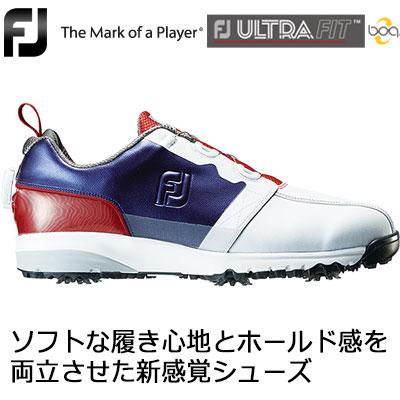 FOOTJOY(フットジョイ) FJ ULTRA FIT Boa メンズ ゴルフシューズ 54145 ホワイト/ネイビー/レッド (W)