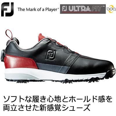 FOOTJOY(フットジョイ) FJ ULTRA FIT Boa メンズ ゴルフシューズ 54146 ブラック/レッド (W)