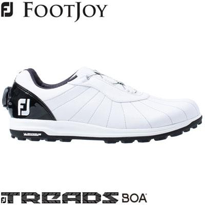 FOOTJOY(フットジョイ) FJ TREADS Boa 2019 メンズ ゴルフシューズ 56213 ホワイト/ブラック (W)