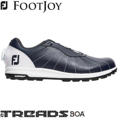 FOOTJOY(フットジョイ) FJ TREADS Boa 2019 メンズ ゴルフシューズ 56214 ネイビー/ホワイト (W)
