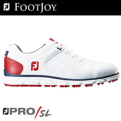 FOOTJOY(フットジョイ) PRO/SL Lace メンズ ゴルフシューズ 56853 ホワイト/ネイビー/レッド (W) =