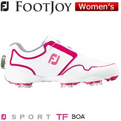 FOOTJOY(フットジョイ) FJ SPORT TF Boa 2019 レディース ゴルフシューズ 96209 ホワイト/ピンク (W)
