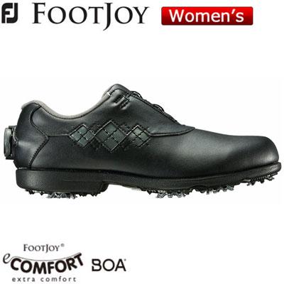 FOOTJOY(フットジョイ) eComfort Boa 2018 レディース ゴルフシューズ 98627 ブラック/チャコール (XW)