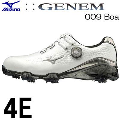 MIZUNO(ミズノ) GENEM -ジェネム- 009 Boa メンズ ゴルフ シューズ 51GQ190003 (4E)