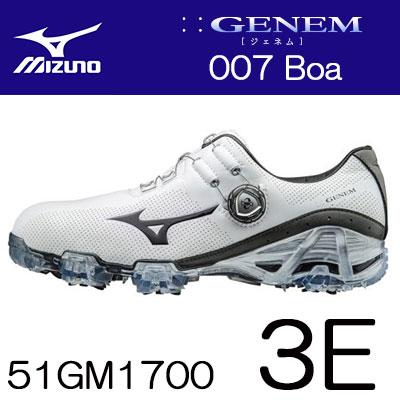 MIZUNO(ミズノ) GENEM -ジェネム- 007 Boa メンズ ゴルフ シューズ 51GM1700 =