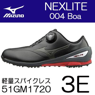 【ゲリラセール開催中】MIZUNO(ミズノ) NEXLITE -ネクスライト- 004 Boa メンズ ゴルフ スパイクレス シューズ 51GM1720 (3E)