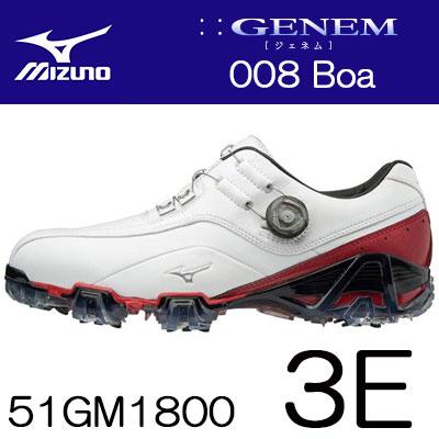 輝い MIZUNO(ミズノ) GENEM -ジェネム- ゴルフ 008 シューズ Boa メンズ ゴルフ シューズ 51GM1800 51GM1800 (3E), ねっとサージミヤワキ:c6befad4 --- canoncity.azurewebsites.net