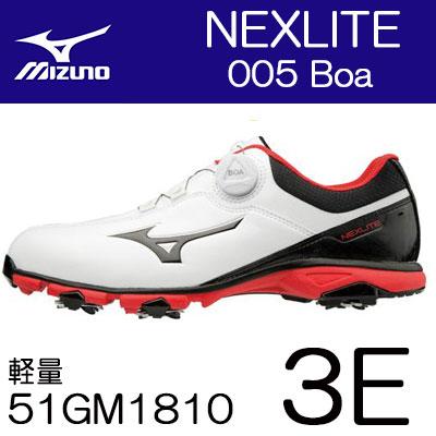 MIZUNO(ミズノ) NEXLITE -ネクスライト- 005 Boa メンズ ゴルフ シューズ 51GM1810 (3E)
