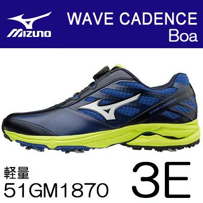 MIZUNO(ミズノ) WAVE CADENCE Boa -ウェーブ ケイデンス- ゴルフ シューズ 51GM1870 (3E)