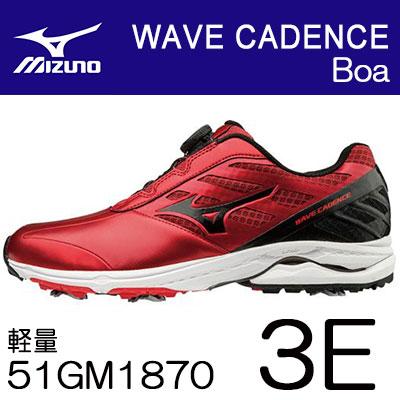 満点の MIZUNO(ミズノ) (3E) WAVE シューズ CADENCE Boa -ウェーブ ケイデンス- ゴルフ シューズ 51GM1870 ゴルフ (3E), 臼田町:e33ff850 --- canoncity.azurewebsites.net