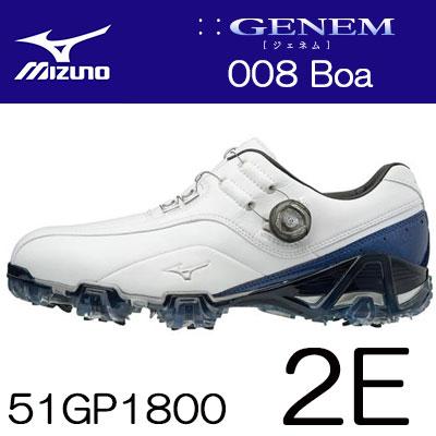 MIZUNO(ミズノ) GENEM -ジェネム- 008 Boa メンズ ゴルフ シューズ 51GP1800 (2E) ***
