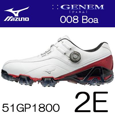 【ゲリラセール開催中】MIZUNO(ミズノ) GENEM -ジェネム- 008 Boa メンズ ゴルフ シューズ 51GP1800 (2E) ***