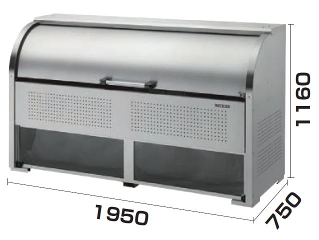 ダイケン クリーンストッカー ステンレスタイプ CKS-1907-A型送料無料 ゴミ収集庫 ゴミ集積場 集合住宅 マンション アパート 店舗 工場 公共施設 屋外