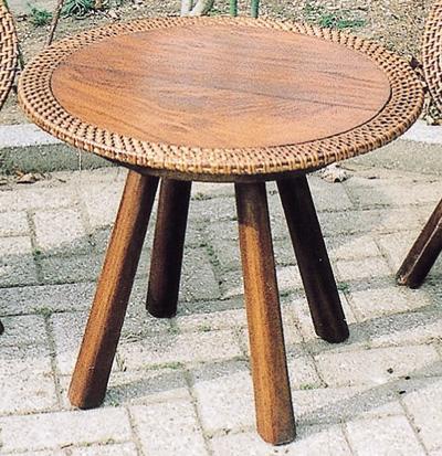 ラタンウッドテーブル(70047)(ジャービス商事)ファニチャー 家具 インテリア 室内向き 机 籐製