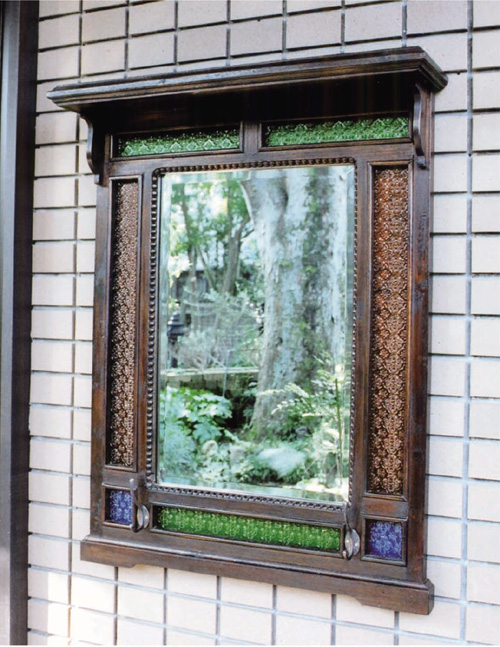 レトロ風 アンティーク化粧鏡スパニョール(70068)