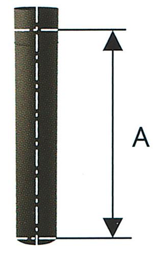 煙突部材 煙突直筒 Φ150×L790(33101)(ジャービス商事)