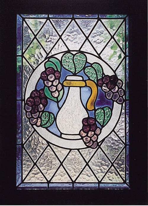 レトロ ステンドグラス ブドウ(87002)