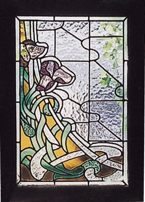 ステンドグラス アヤメ(87003)(ジャービス商事)ウォールデコレーション インテリア インテリアガラス ディスプレイ レトロ フラワー 花