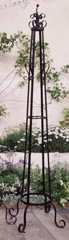 送料無料 ガーデン用品 置き型デコレーション オベリスクA型(34132)(ジャービス商事)エクステリア インテリア ガーデニング用品 園芸用品 フラワースタンド スタンドデコレーション アイアン