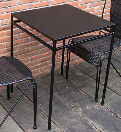 アイアンスクエアテーブル55(38680)(ジャービス商事)ファニチャー 家具 テーブル 机 インテリア 室内向き チーク