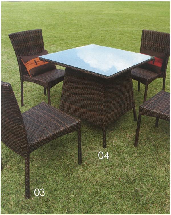 送料無料 家具 屋外向 ガーデンファニチャー ガーデンテーブル 人工ラタンファニチャー スクエアガラステーブル NH-2119Z(38707)(ジャービス商事)ガーデンファニチャー ガーデン家具 ガーデンテーブル 机
