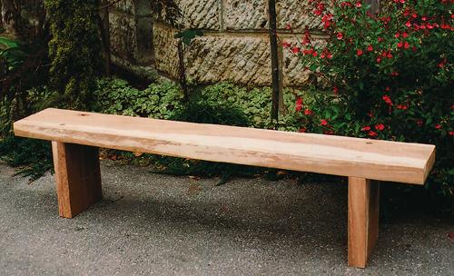 枕木台ベンチ 1型(カンナ・無塗装仕上げ)(26016)(ジャービス商事)ガーデンファニチャー ガーデン家具 ガーデンベンチ ガーデンチェア 椅子 イス 木製