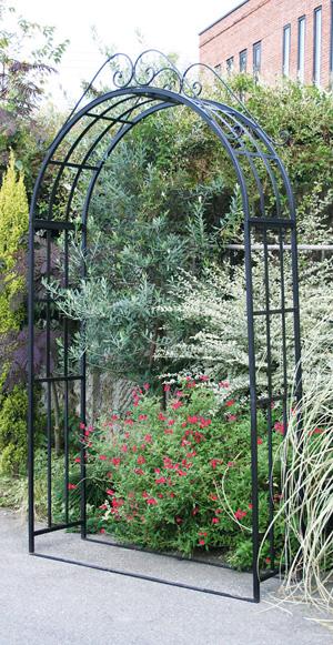 ガーデンアーチ3型(32350)(ジャービス商事)エクステリア ガーデニング 園芸 庭造り ブラック 黒 アイアン