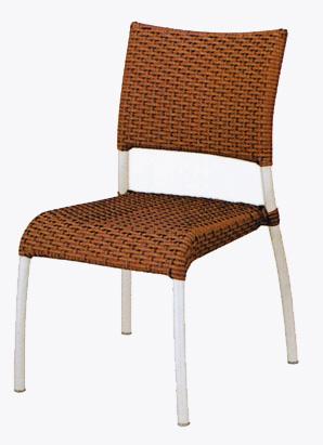アームレス人工ラタンアルミチェア YC039 2脚セット(32610)(ジャービス商事)ガーデンファニチャー ガーデン家具 ガーデンチェア 椅子 イス