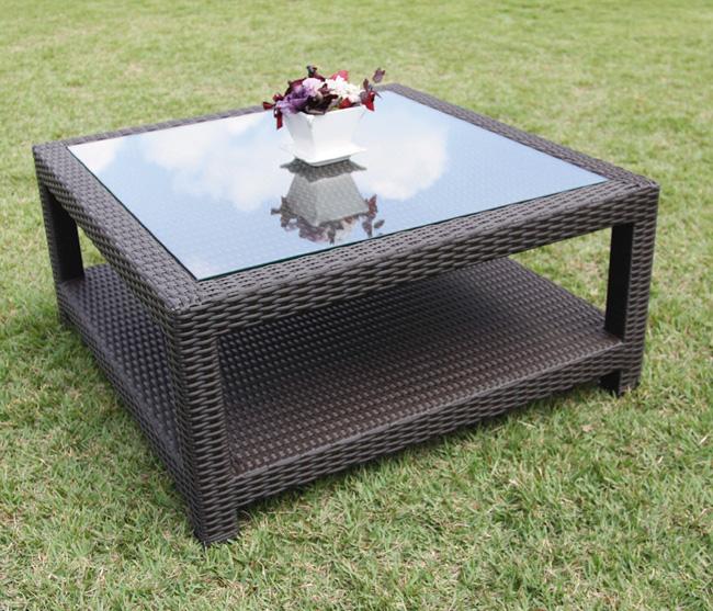 人工ラタン NH-2050シリーズ ガラスエンドテーブル NH-2050Z(38704)(ジャービス商事)ガーデンファニチャー ガーデン家具 ガーデンテーブル 机