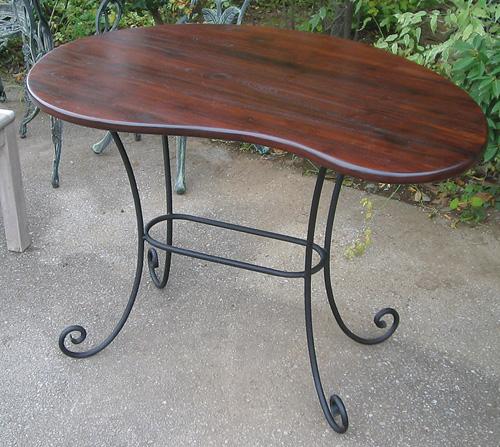 マンゴーテーブル(34211)(ジャービス商事)ファニチャー 家具 インテリア 室内向き 机 チーク アイアン