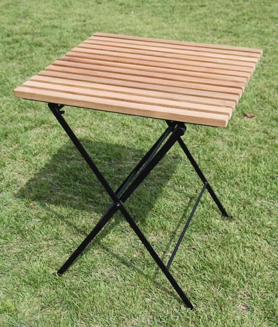 折り畳みアイアンチークテーブル(34219)(ジャービス商事)ガーデンファニチャー ガーデン家具 ガーデンテーブル 机 チーク 木製