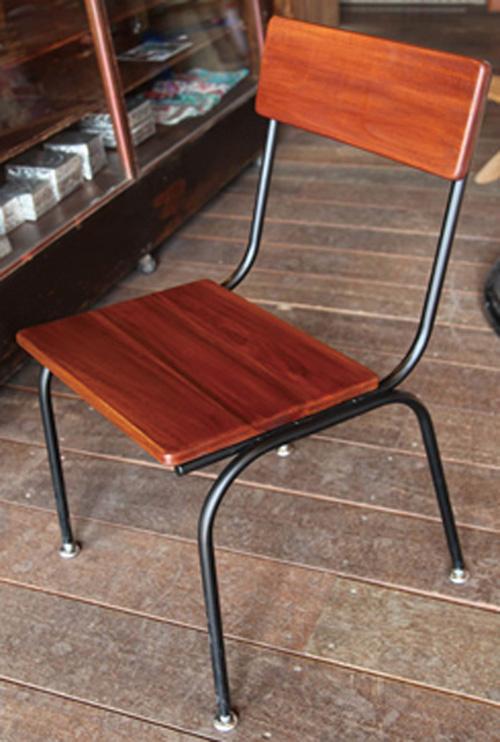 アイアンスタンダードチェア(34251)(ジャービス商事)ファニチャー 家具 チェアー イス 椅子 インテリア 室内向き チーク