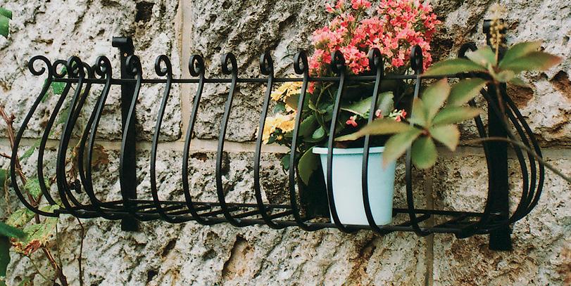 フラワーバルコニー N-1-6032型(35301)(ジャービス商事)エクステリア ガーデン用品 ガーデニング用品 ウォールデコレーション フラワーラック 園芸 アイアン