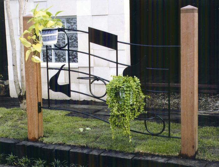 ミュージックフェンス O型(36416)(ジャービス商事)エクステリア 門扉 フェンス ガーデン 門まわり アイアン