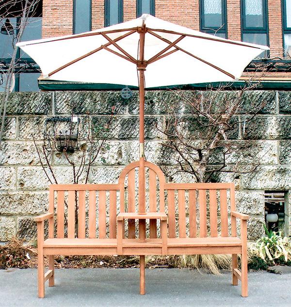 送料無料 家具 屋外向 ガーデンファニチャー ガーデンベンチ アンブレラベンチ(36320)(ジャービス商事)ガーデンファニチャー ガーデン家具 ガーデンベンチ ガーデンチェア 椅子 イス チーク 木製