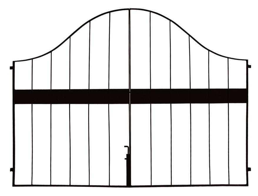 イージーゲート 0812両開きセット 本体(38637)(ジャービス商事)エクステリア 門扉 フェンス ガーデン 門まわり アイアン