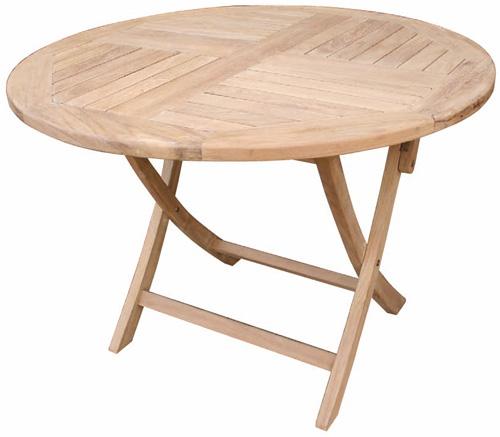 送料無料 家具 屋外向 ガーデンファニチャー ガーデンテーブル 折り畳み丸テーブル(20861)(ジャービス商事)ガーデンファニチャー ガーデン家具 ガーデンテーブル 机 チーク 木製
