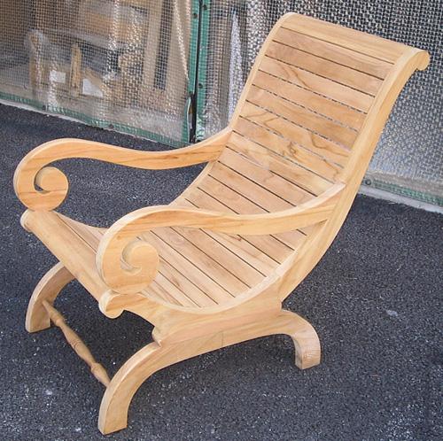 カンフォタブルチェア(36313)(ジャービス商事)ガーデンファニチャー ガーデン家具 ガーデンチェア 椅子 イス チーク 木製