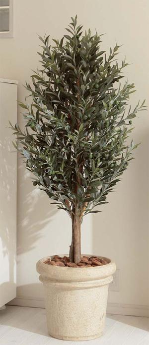 人工植物 グリーンデコ オリーブツリー 1.6m GD-38N(21624600)(タカショー)送料無料 人工樹 観葉植物 室内用 インテリア